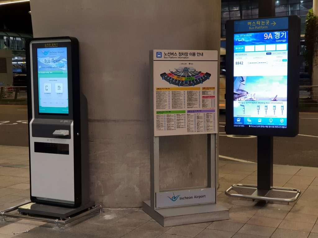 Bus ticket vending machine and information stand