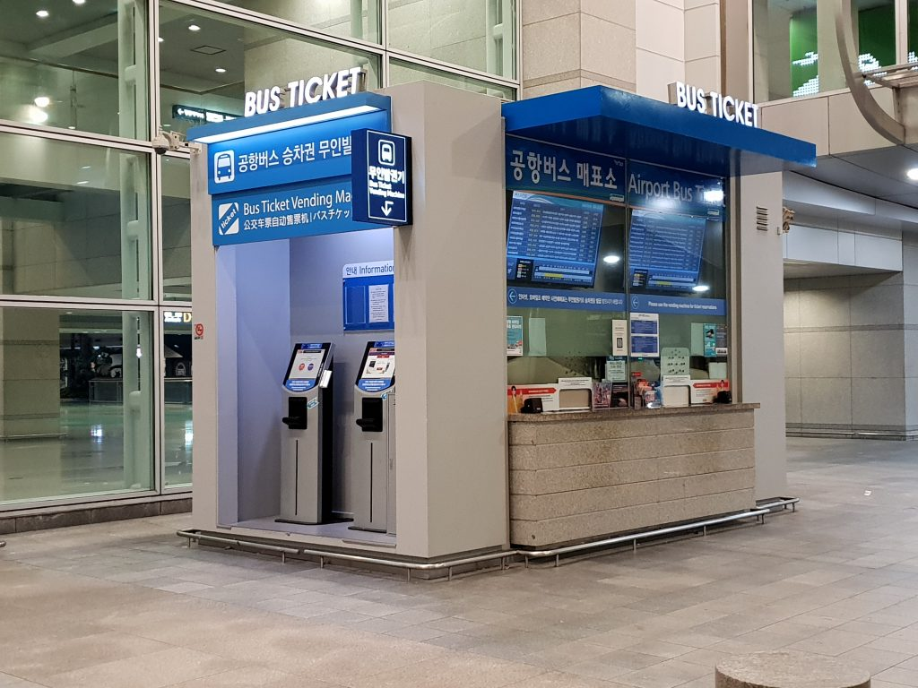 Bus ticket office in Incheon Airport