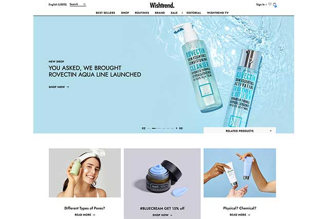 Wishtrend K beauty online store