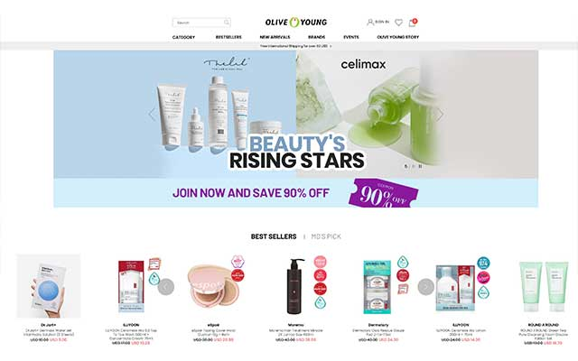 olive young Kbeauty online shopping