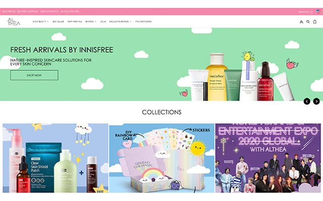 Korean beauty product online shopping