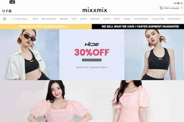 mixxmix korean fashion online shopping mall