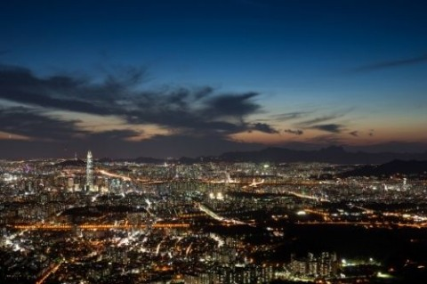 Seoul Night View from N Tower