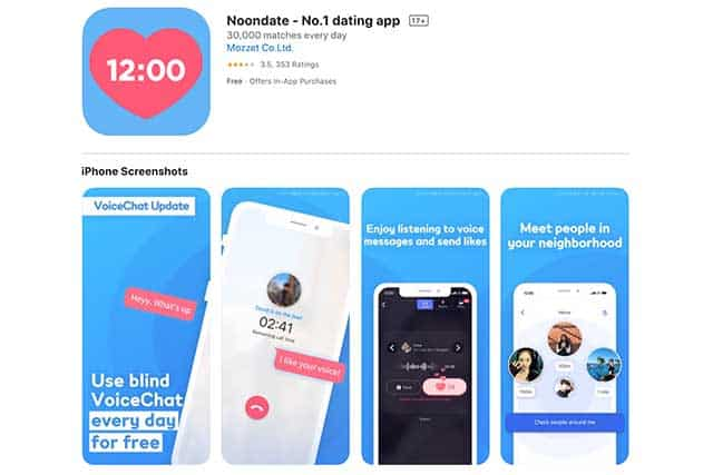 Noondate dating app in korea