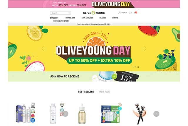 K-beauty Olive Young beauty store