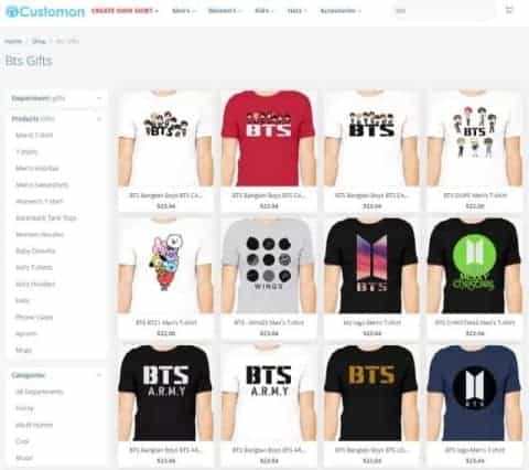CustomOn-BTS-T-shirts