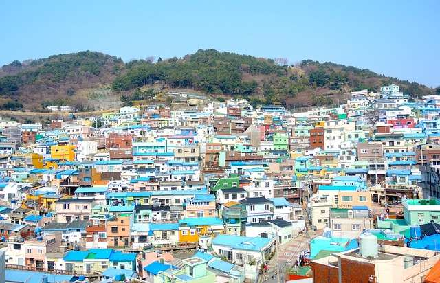 Houses in Busan Korea