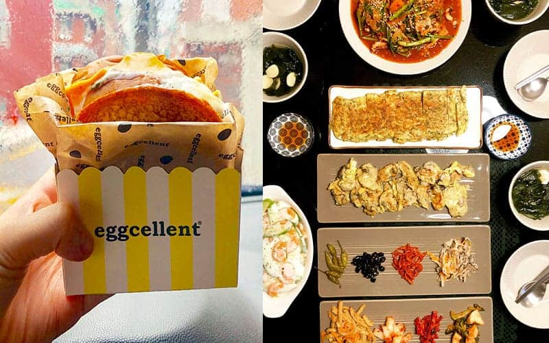 breakfast menu in Korea : Egg Cellent to typical Korean dish