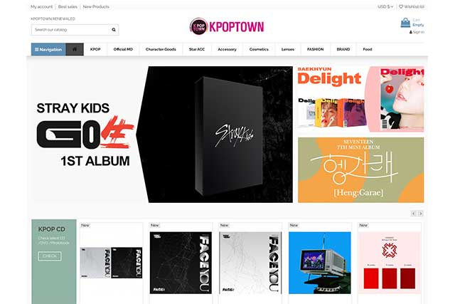 kpoptown online shopping site