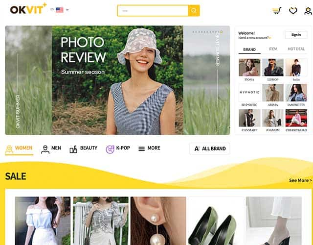Tindahan ng online na Korean fashion