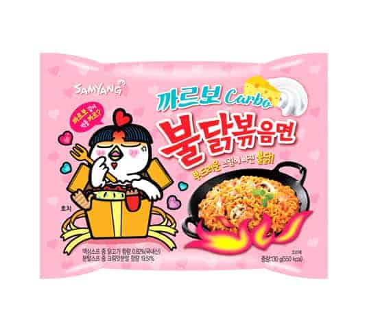 Samyang Spicy Chicken Noodle Carbonara Flavor