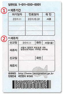 Alien registration card 2