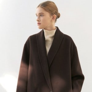 CASHMERE MUFFLER COAT [HAND MADE] BROWN
