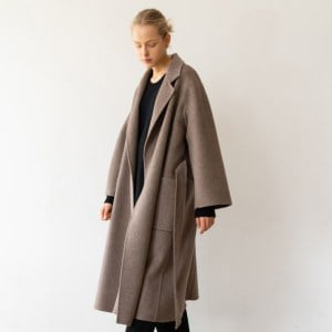 Handmade Herringbone Coat Brown