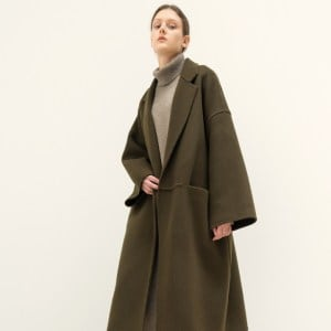 Wide Robe Coat Olive