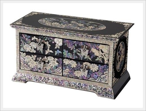 mother of pealrs, korean, traditional, lacquer, box