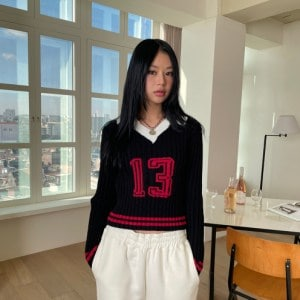 Collared 13 Knit Top