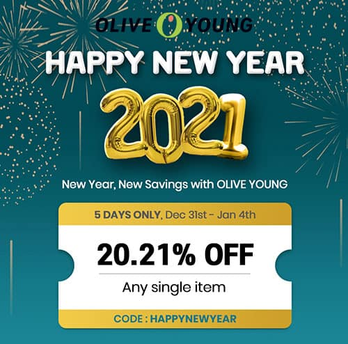 olive young coupon Jan. 2021
