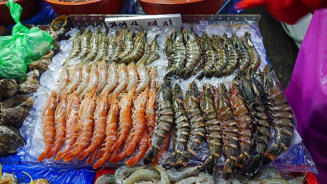 Shrimps in the market