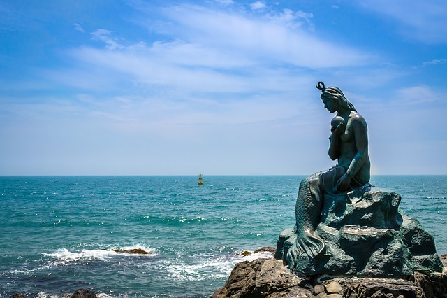 mermaid statue in Haeundae